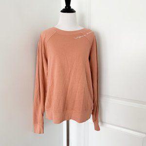 Free People MATE Embroidered Sweatshirt